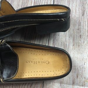 Cole Haan Shoes - Women's Black Leather Cole Haan Slip-On Mules